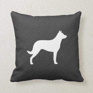 Het Silhouet van de Hond van Beauceron Sierkussen