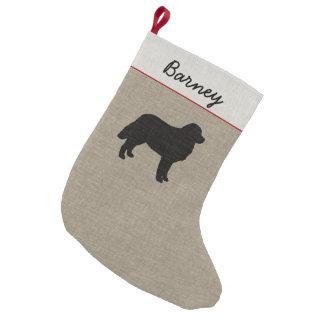 Het Silhouet van de Hond van de Berg van Bernese Kleine Kerstsok
