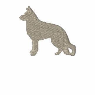 Het Silhouet van de Hond van de Duitse herder met Geborduurde Gevoerde Hoodie