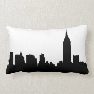 Het Silhouet van de Horizon NYC, de Staat van het Lumbar Kussen