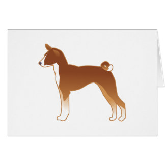 Het Silhouet van de Illustratie van het Hondenras Briefkaarten 0
