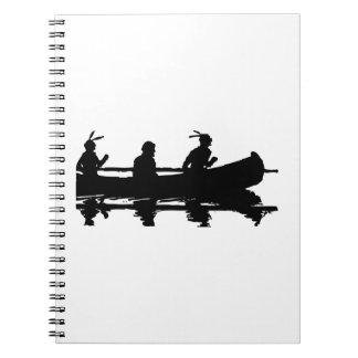 Het Silhouet van de kano Ringband Notitieboek