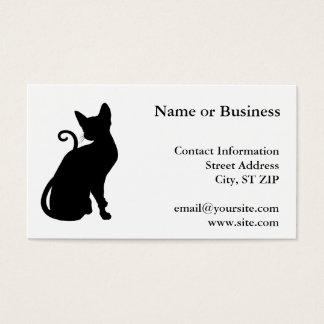 Het Silhouet van de kat Visitekaartjes