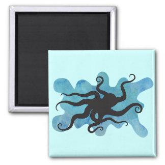 Het silhouet van de octopus magneet