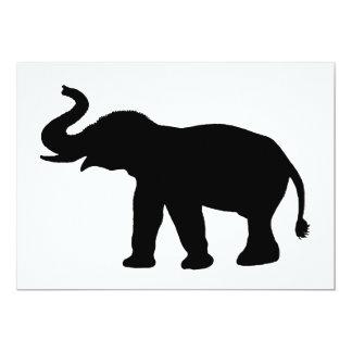 Het Silhouet van de olifant 12,7x17,8 Uitnodiging Kaart