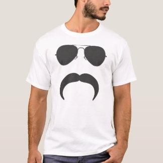 Het silhouet van de Snor van de vliegenier T Shirt