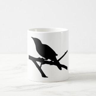 Het Silhouet van de spotlijster Koffiemok