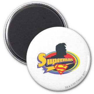 Het Silhouet van de superman Ronde Magneet 5,7 Cm