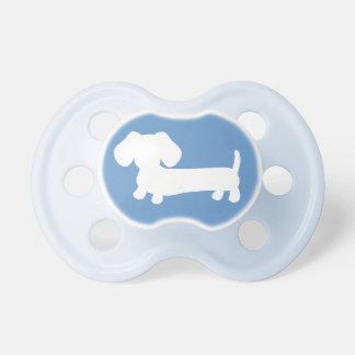 Het Silhouet van de tekkel op Blauw Baby Speentjes