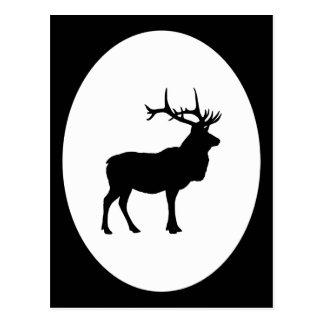 Het Silhouet van elanden Briefkaart