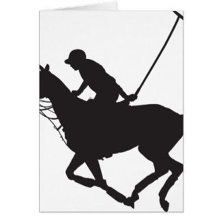 Het Silhouet van het Pony van het polo Kaart