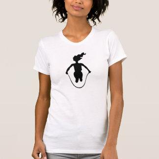 Het Silhouet van het springtouw T Shirt