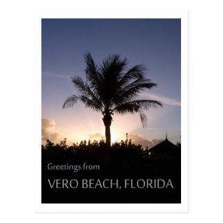Het Silhouet van het Strand van Vero Briefkaart