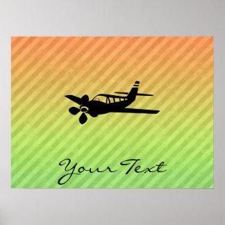 Vliegtuig silhouet posters &; afdrukken