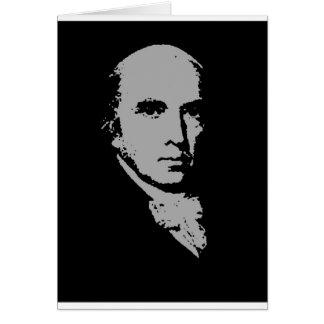 het silhouet van James Madison Wenskaart