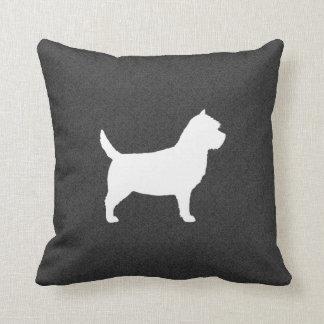 Het Silhouet van Terrier van de steenhoop Sierkussen