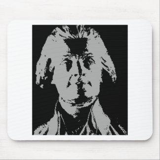 Het silhouet van Thomas jefferson Muismatten