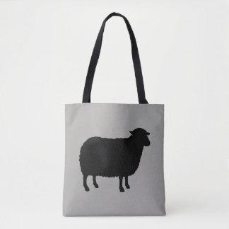 Het Silhouet van zwart schapen Draagtas