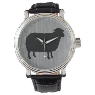 Het Silhouet van zwart schapen Horloges
