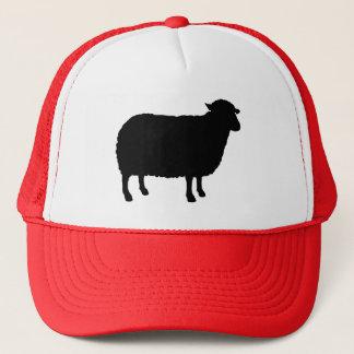 Het Silhouet van zwart schapen Trucker Pet