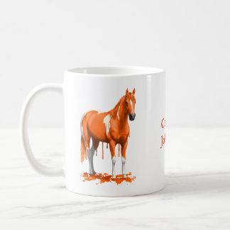 Het Sinaasappel die van de pompoen het Natte Paard Koffiemok