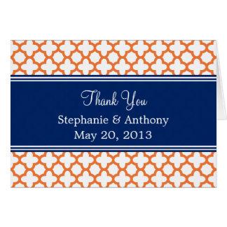 Het sinaasappel, het Huwelijk van Quatrefoil van Briefkaarten 0