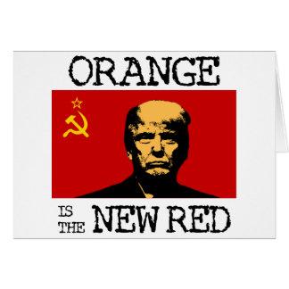 Het sinaasappel is het Nieuwe Rood Briefkaarten 0
