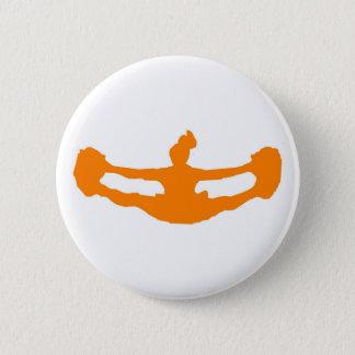 """Het sinaasappel """"JUICHEN!"""" toe Knoop Ronde Button 5,7 Cm"""
