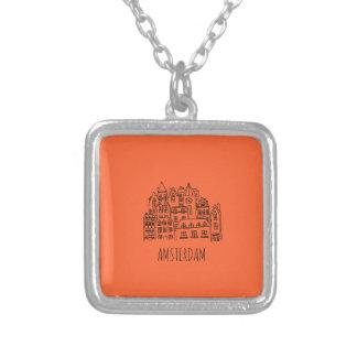 Het Sinaasappel van de Herinnering van de Stad van Ketting Vierkant Hangertje