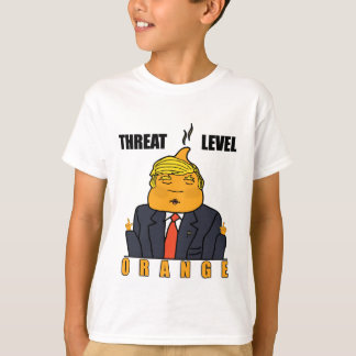 Het Sinaasappel van het Niveau van de bedreiging T Shirt