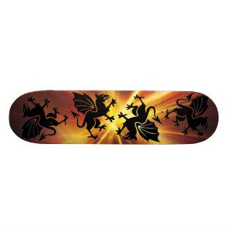 het Skateboard van de branddraak