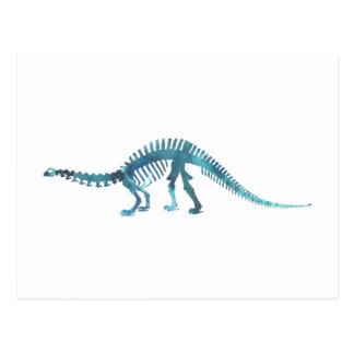 Het Skelet van de dinosaurus Briefkaart