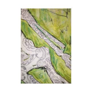 Het skelet van het kant stretched canvas afdrukken