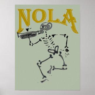 Het Skelet van NOLA met Hoorn Poster