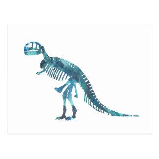 Het skeletart. van tyrannosaurussen rex briefkaart