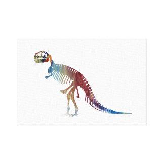 Het skeletart. van tyrannosaurussen rex canvas afdruk