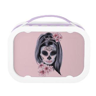 Het skeletmasker van de vrouw lunchbox