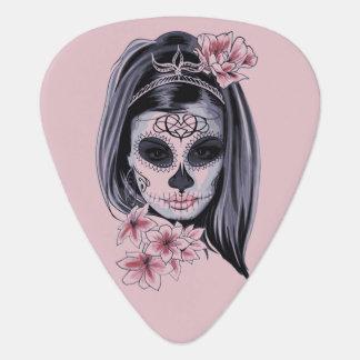 Het skeletmasker van de vrouw plectrum