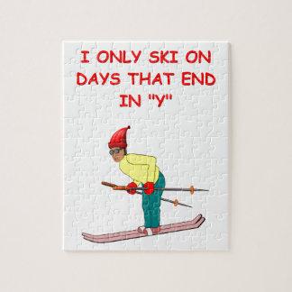 het ski?en grap puzzel