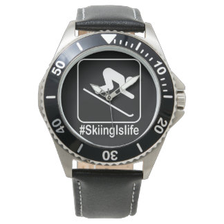 Het ski?en is het Leven! Horloge