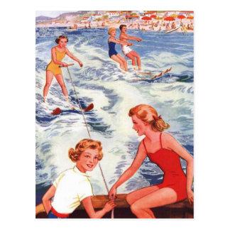 Het Ski?en van het Water van de zomer Pret Briefkaart