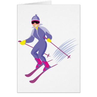Het ski?en Wenskaarten