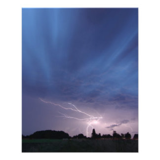 Het Slaan van de bliksem tijdens Onweersbui Folder