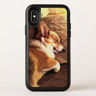 Het slapen Welse Corgi OtterBox Symmetry iPhone X Hoesje