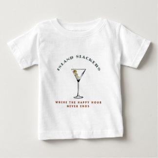 Het Slappere Gelukkige Uur van het eiland Baby T Shirts