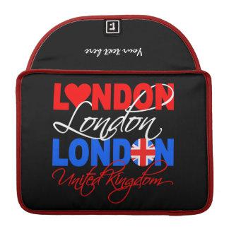Het sleeve van de douaneMacBook van Londen Sleeve Voor MacBooks