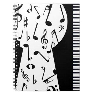 Het Sleutelgat van de piano Notitie Boeken