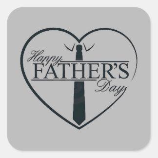 Het Slimme Grijs van de Dag van vaders Vierkant Stickers