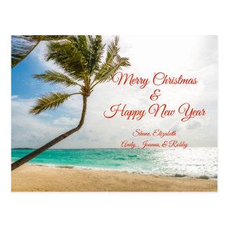 Het slingerende Briefkaart van Kerstmis van Palmen