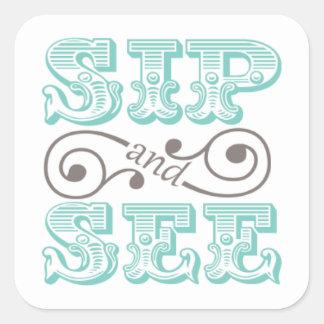 Het Slokje van Aqua en ziet de Stickers van de